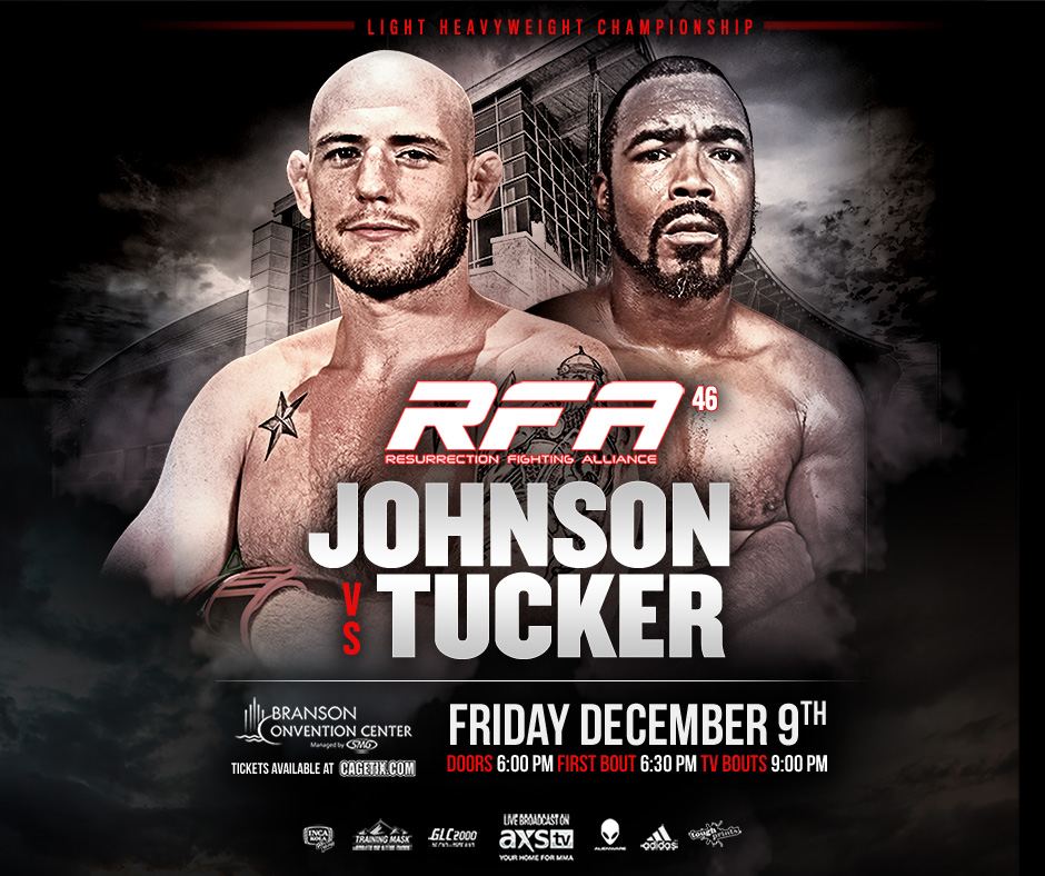 RFA 46 – Johnson Vs. Tucker Comes To Branson Dec. 9